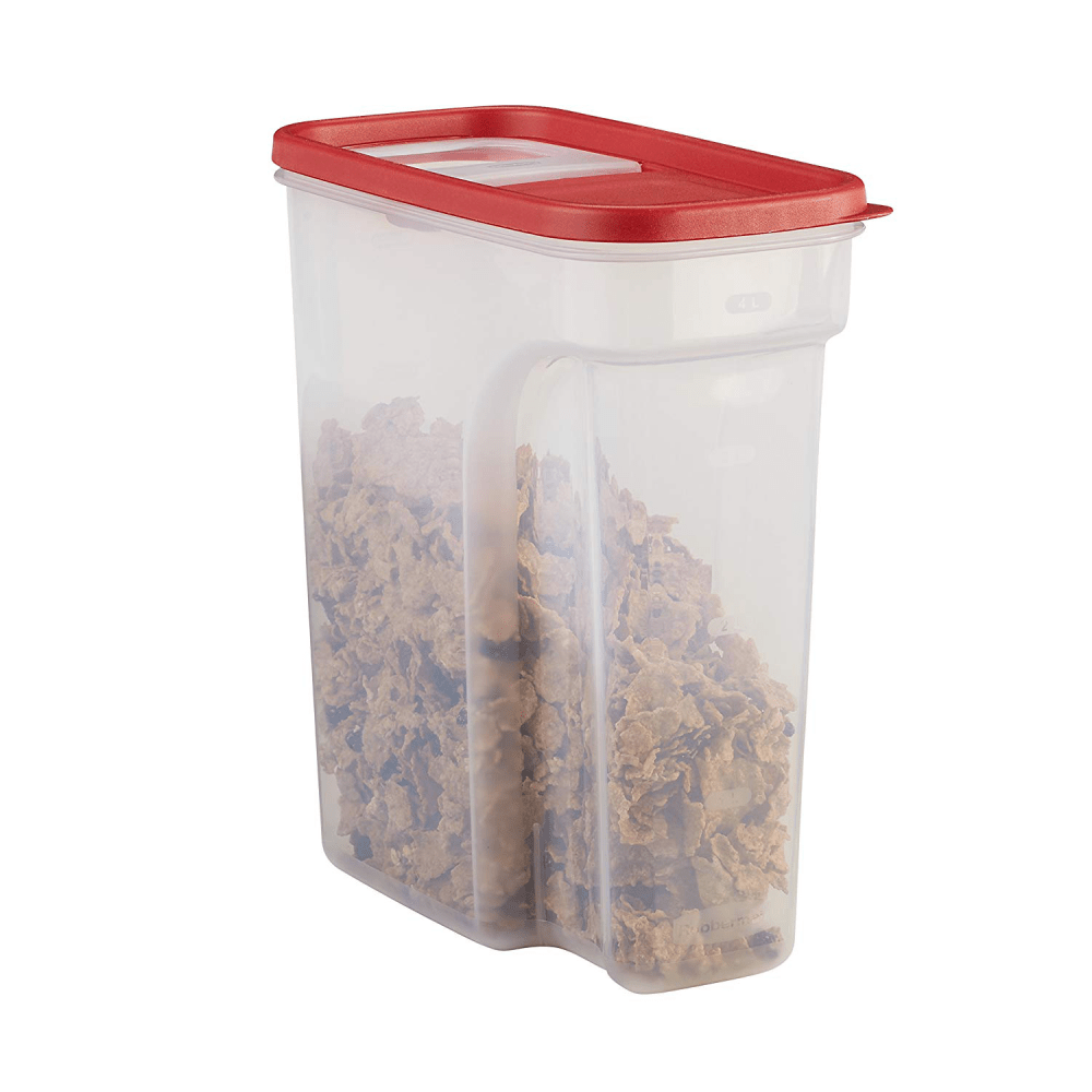 Rubbermaid Modular Food Storage Cereal Container with Flip Top, 18 Cup, Racer Re 1