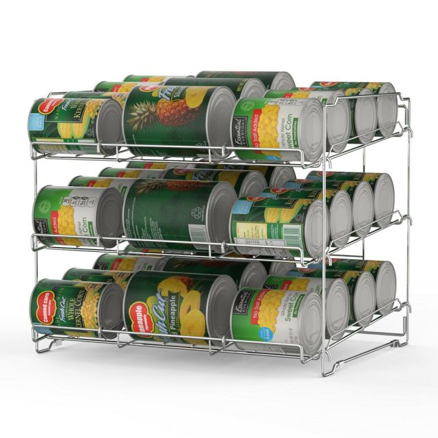 Kitchen Cabinet Shelf Can Storage Rack Pantry Organizer Soup Can Food Holder 3