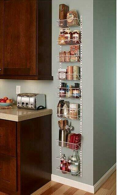 Over The Door Spice Rack Organizer Food Storage Hanger Pantry Shelf Wall Mount 1