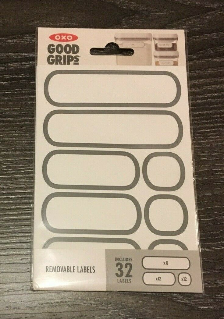 OXO Good Grips 32-Pack Removable Labels for Food Storage Containers New Sealed 1