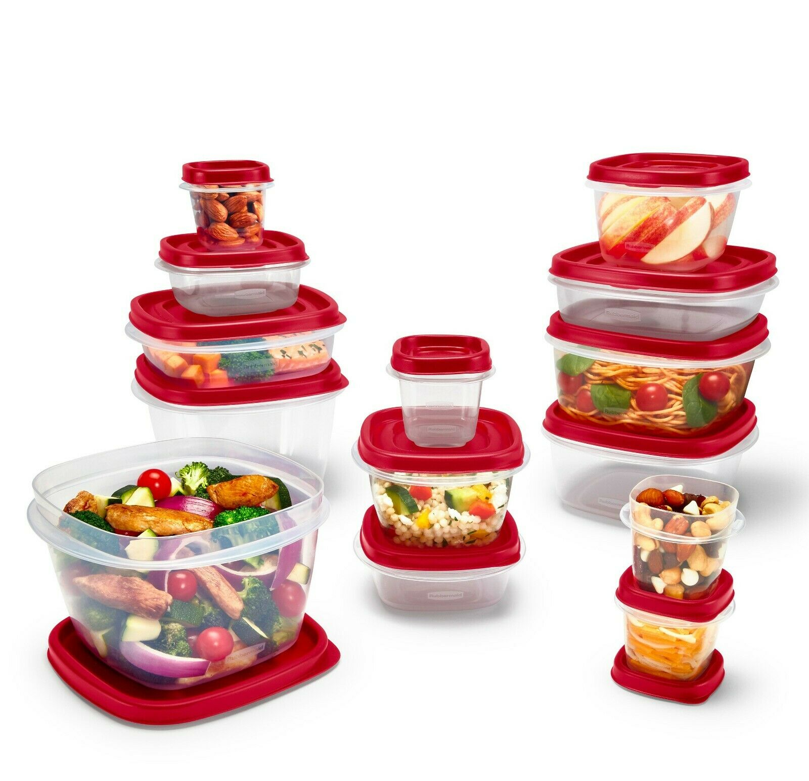 Rubbermaid Food Storage Containers Easy Find Vented Lids Home Kitchen 24 Pieces 1