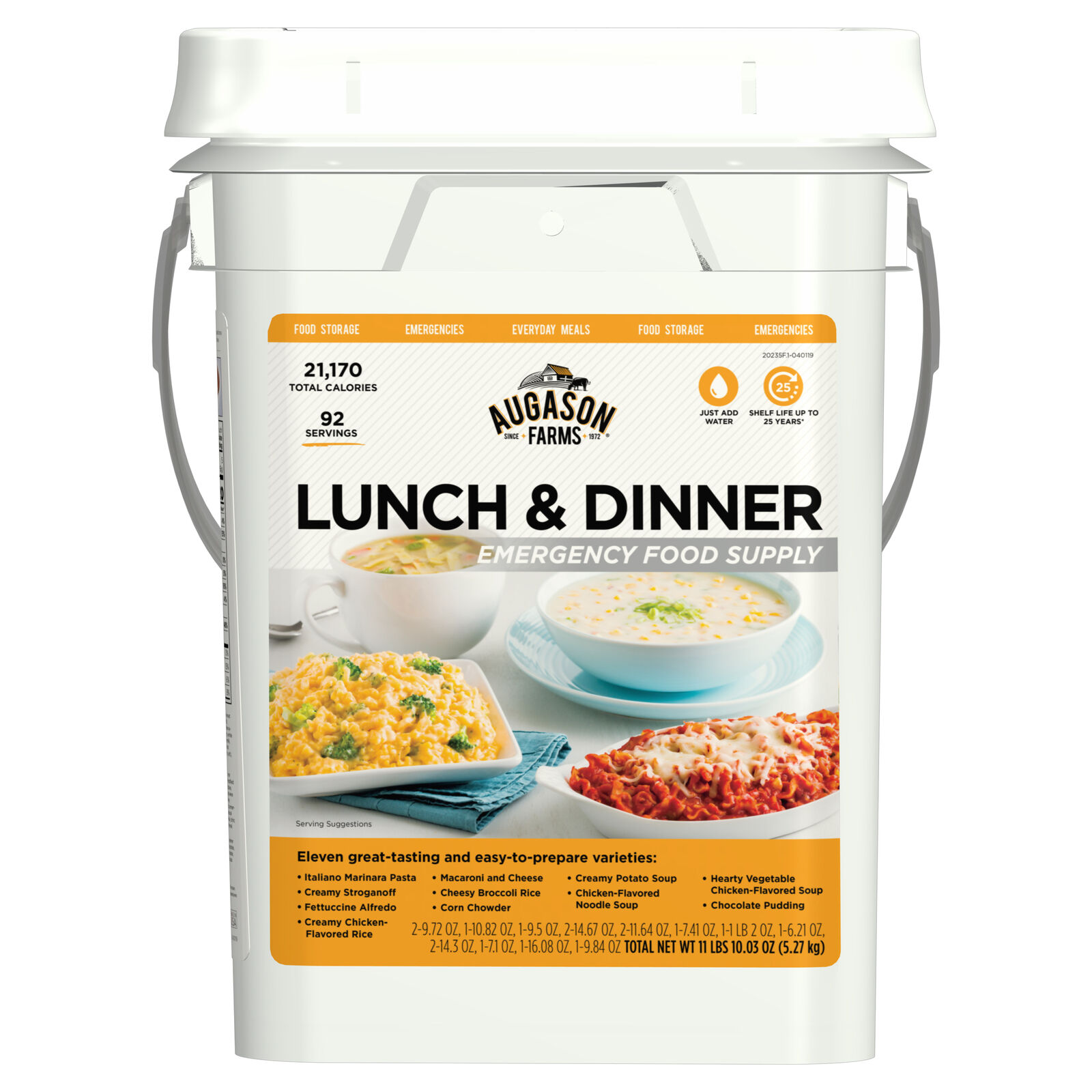 Survival Emergency Food Bucket Storage Supply Pail Camping Day Lunch Dinner Kit 1