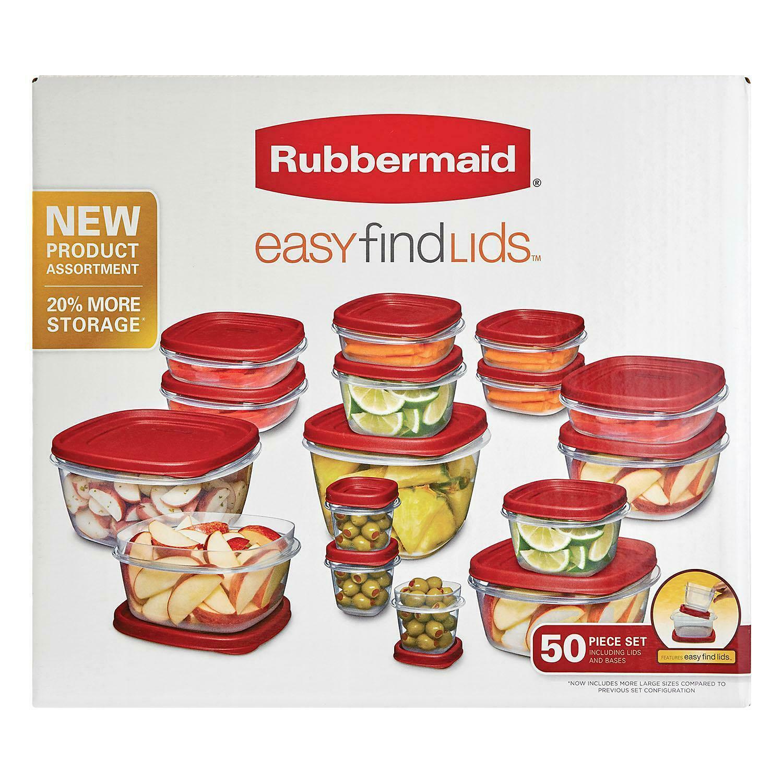 Rubbermaid Easy Find Lids Food Storage Set - (50 Pieces) 1