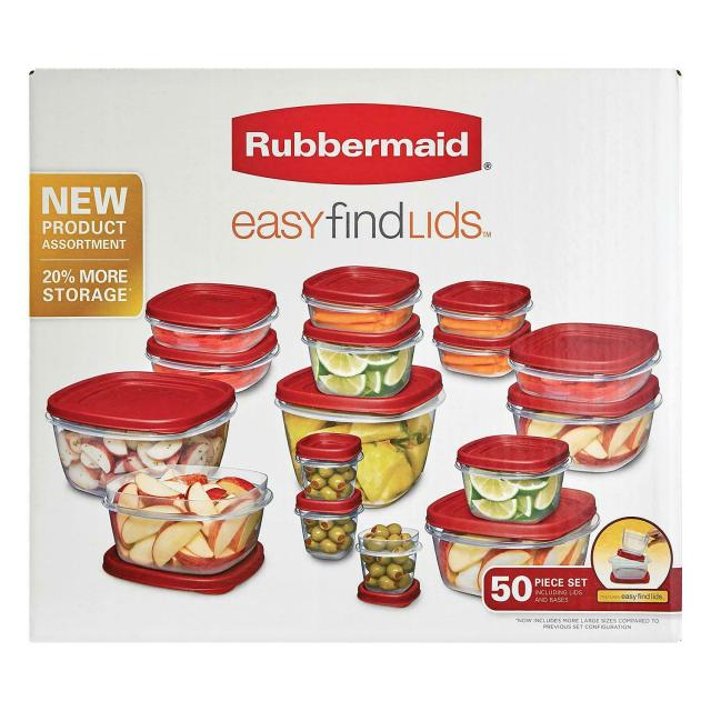 Rubbermaid Easy Find Lids Food Storage Set - (50 Pieces) 8