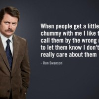 Nick Offerman (aka Ron Swanson)
