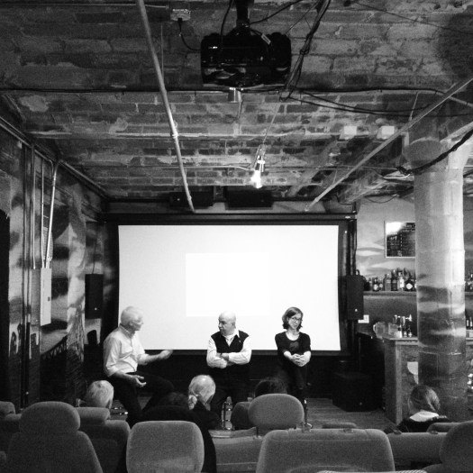 Panel discussion after the screening of Trash Dance in NYC featuring (R to L) director