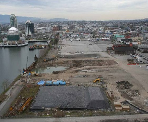 Brownfield in City of Vancouver, Canada.