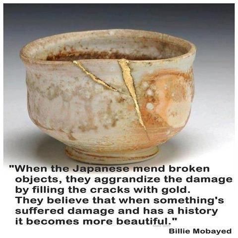 Japanese+mended+vase