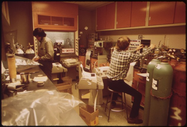 California Air Resources Board Laboratory, Los Angeles, in 1973.