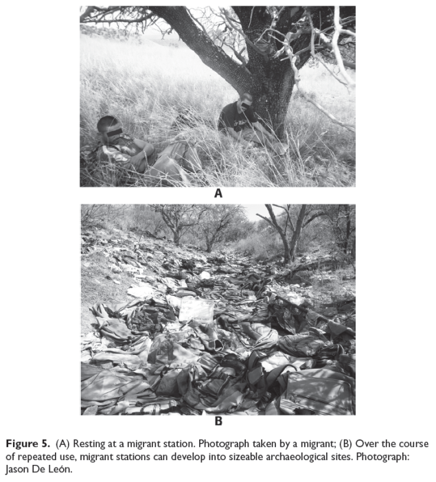 """Image from DeLeon's """"Undocumented migration, use wear, and the materiality of habitual suffering in the Sonoran Desert"""" Material Culture 18(4)."""