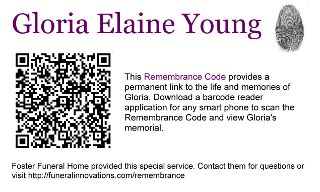 Remembrance Code from Funeral Innovations.