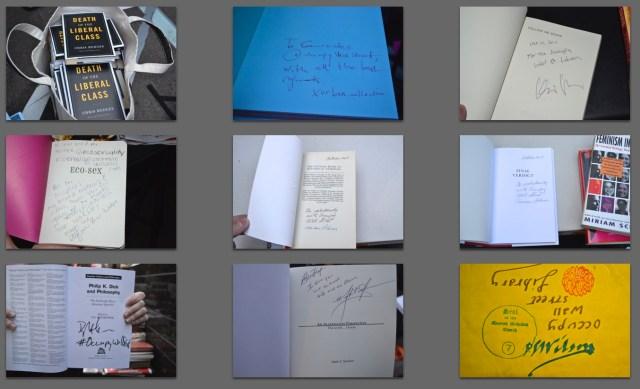 Donated author signed books (Photos: M. Oman-Reagan)