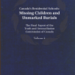 A cover image of volume 4 of the Truth and Reconcilliation Commision report.