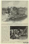 Leading a scow with refuse ; Sorting the rags and other articles of value under the old-fashioned dumping-board. (1897) NYPL