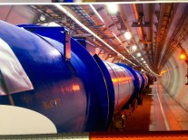 An image of an underground accelerator at CERN.