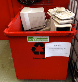 Typical dumpster fare: old computers