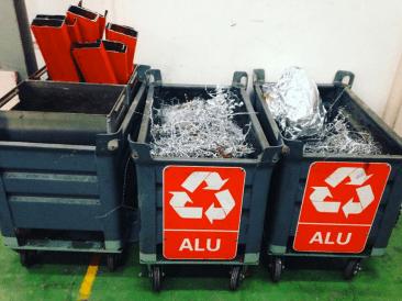 Typical dumpster fare: metal scraps