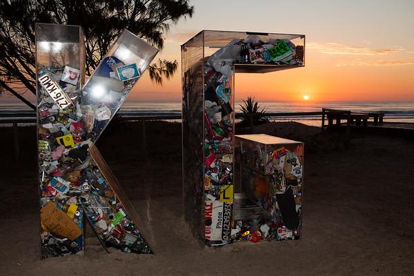 Can't Sea Through This, Elysium Greene - Swell Sculpture Festival 2012, Dawn Visit; Currumbin, Gold Coast, Queensland, Australia; 21 September 2012. Photos by Des Thureson.