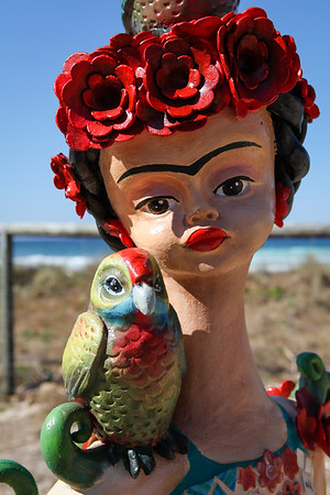 The Three Fridas, Monte Lupo - Swell Sculpture Festival 2012, Visit 1; Currumbin, Gold Coast, Queensland, Australia; 20 September 2012. Photos by Des Thureson