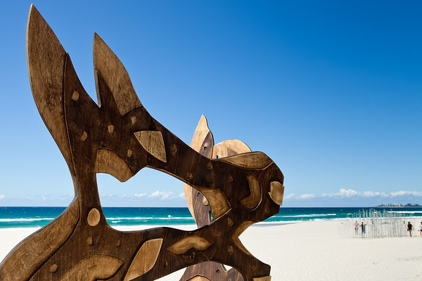 Dune Spirit, Jack Quilter - Swell Sculpture Festival, Pacific Parade, Currumbin Beach, Gold Coast, Queensland, Australia. Photos by Des Thureson:  http://disci.smugmug.com.