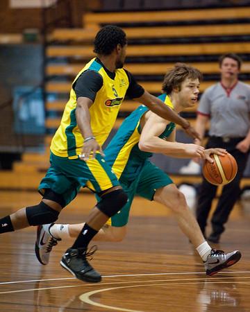 Matthew Dellavedova, Patty Mills - Boomers - Australian Men's Basketball Team Open Training Session, The Southport School, Queensland, Australia; 28 July 2011. Photos by Des Thureson:  http://disci.smugmug.com.