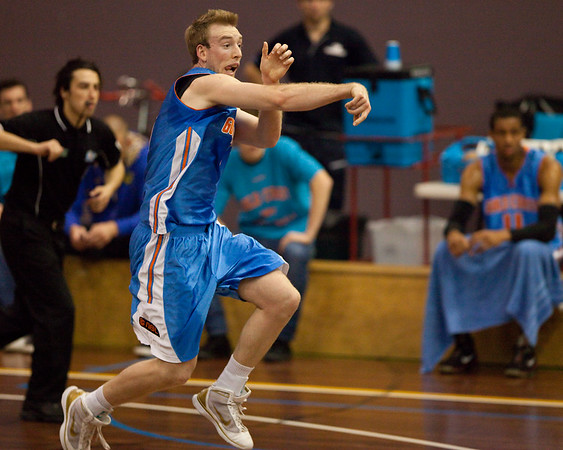 Brendan Teys with the bullet pass - NBL Pre Season Basketball: Gold Coast Blaze v University of Texas San Antonio; Carrara, Gold Coast, Queensland, Australia. Photos by Des Thureson:  http://disci.smugmug.com.