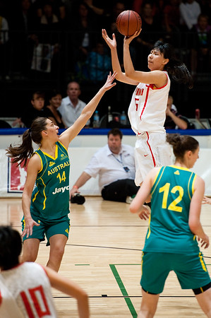 Marianna Tolo - Opals v China International Women's Basketball, Logan Metro Sports Centre, Crestmead, Queensland, Australia; 24 July 2011. Photos by Des Thureson:  http://disci.smugmug.com.