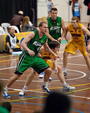 Peter Alexander, Matthew Roberts - QBL Quarter Final Basketball: Gold Coast Rollers v Brisbane Capitals; Carrara, Gold Coast, Queensland, Australia. Photos by Des Thureson:  http://disci.smugmug.com.