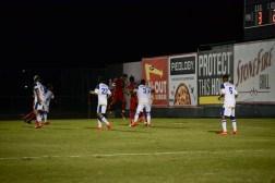 Defender Samuel Dadzie knocks the header win in overtime for CSUN.