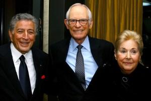 Tony Bennett with Alan and Marilyn Bergman