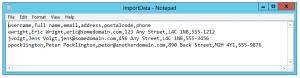 powershell import csv header import
