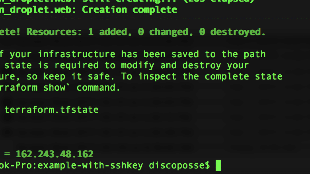 Adding SSH Access for DigitalOcean when Using Terraform | DiscoPosse com