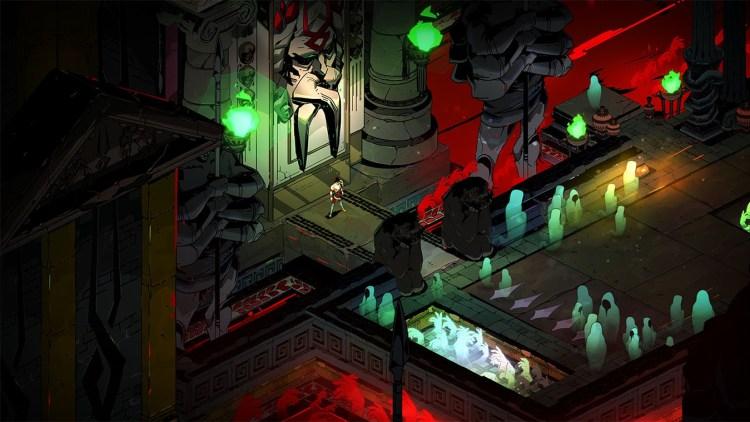 Zagreo a las puertas del Inframundo en un fotograma del videojuego Hades (2020).