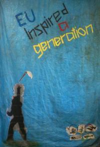Blue tarpaulin - EU Inspired A Generation