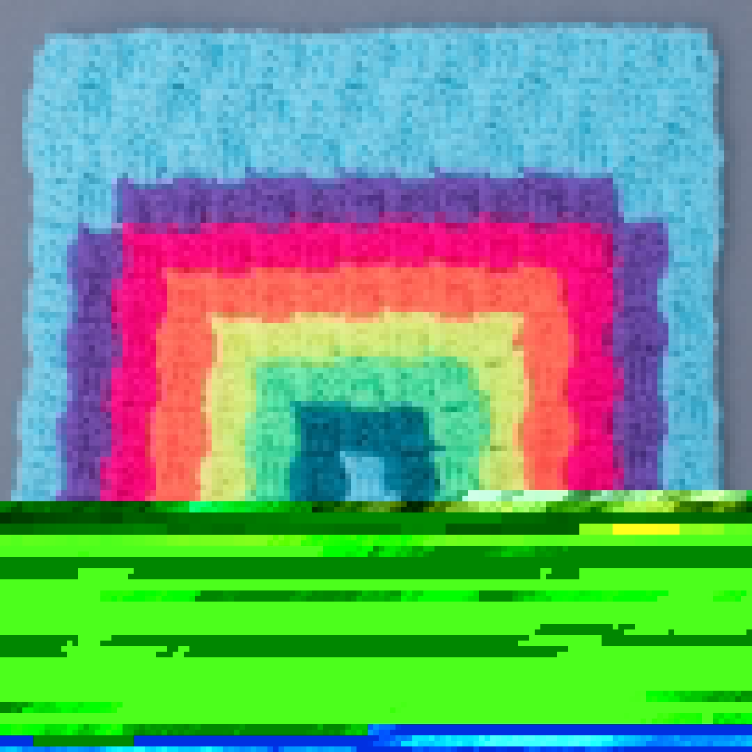 RAINBOW CROCHET SQUARE