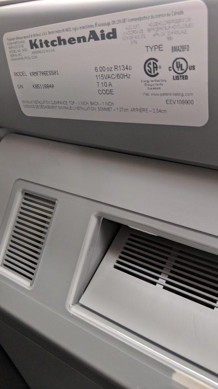 (New) KitchenAid Refrigerator KRMF706ESS01