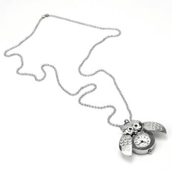 Silver Tone Owl Pendant Chain.