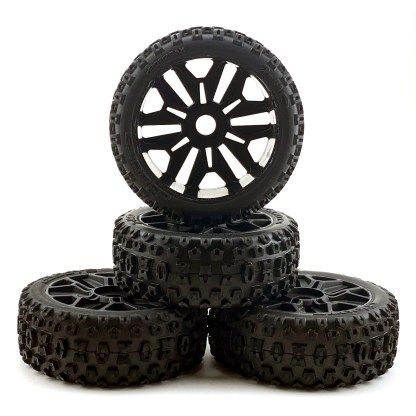 Arrma Typhon V3 4x4 Mega Wheels & Tires dBoots 2HO Tire Set Glued AR550057