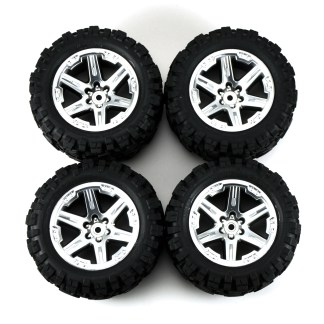 Traxxas Rustler 4X4 VXL Talon Extreme Factory Glued Wheels & Tires 6773R