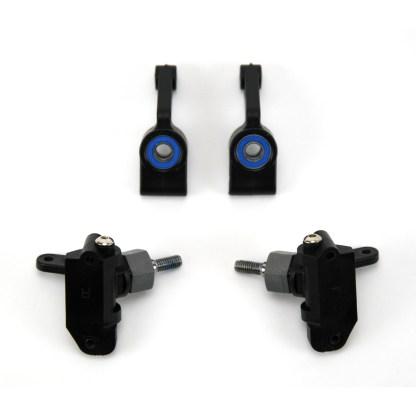 Traxxas Rustler 2WD VXL Steering Caster Blocks C-Hub Axle Carriers w/ Bearings