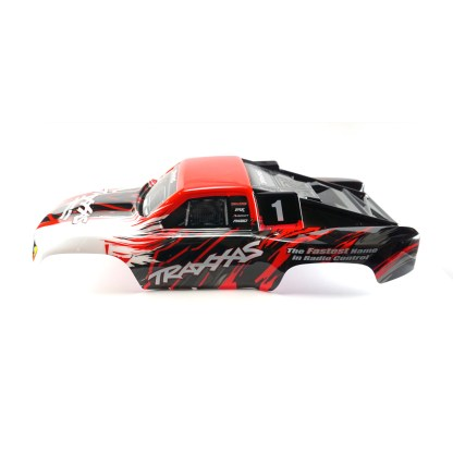 Traxxas Slash 4X4 VXL Red Body Shell Painted Decals Applied #5824R
