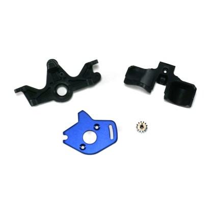 Traxxas Rustler 4X4 VXL Motor Mount & Plate w/ 13-T Pinion Gear & Gear Cover
