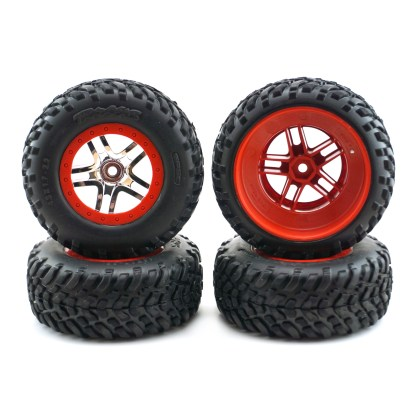 Traxxas Slash 4X4 VXL Factory Mounted Wheels & Tires