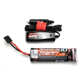 Traxxas Stampede 2WD XL-5 3000mAh 8.4V NiMH Flat Pack Battery 12V DC 4A Charger