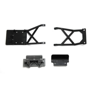 Traxxas Stampede 2WD XL-5 F&R Lower Skid Plates w/ Front Bumper & Bulkhead