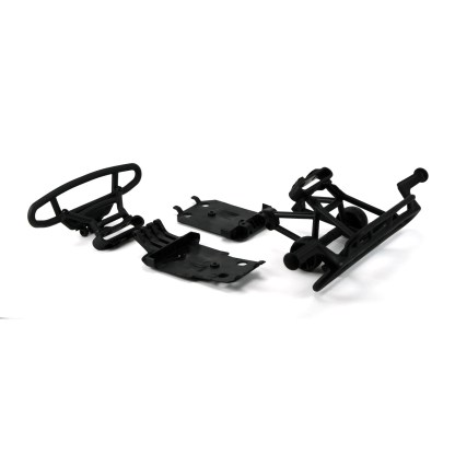 Arrma Senton V3 4x4 3S BLX F/R Bumper Set Wheelie Bar Wheels Chassis Skid Plates
