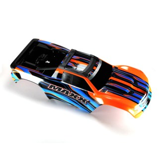 Traxxas 1/10 Maxx 4WD 4S Body Shell Orange Painted Decaled