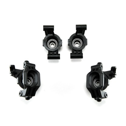 Traxxas 1/10 Maxx Steering Caster Blocks C-Hub Axle Carriers w/ Bearings