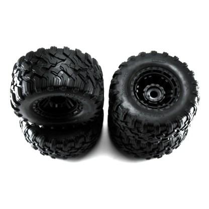 Traxxas 1/10 Maxx All-Terrain Tires Black Wheels, Factory Assembled Glued