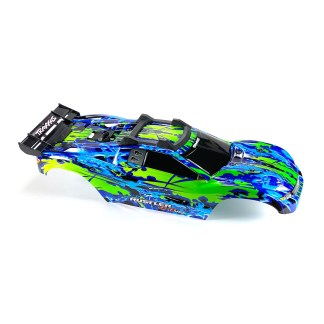Traxxas Rustler 4X4 VXL Blue/Green Body Shell w/ Clipless Mounting